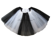 LONG Color Block Tutu White Black